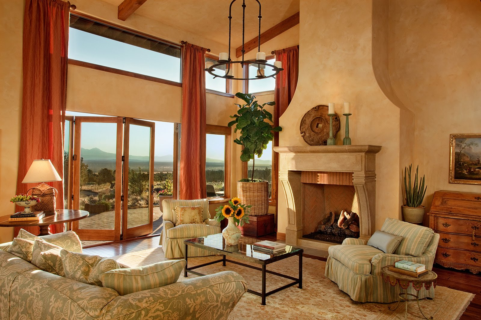 Tuscan Living Room Interior Design Ideas