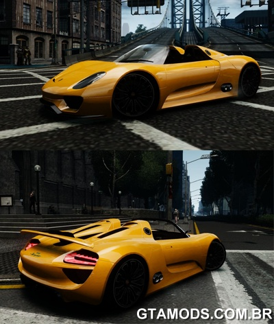 gta mods porsche 918 spyder concept. Black Bedroom Furniture Sets. Home Design Ideas