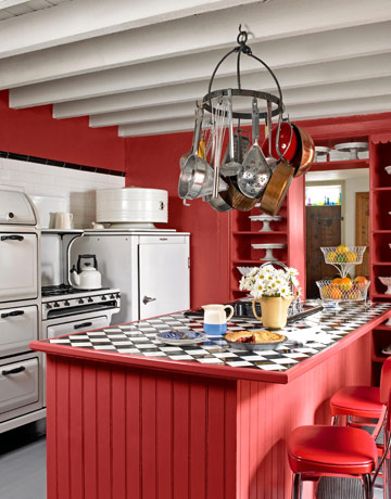 Country Red Kitchen