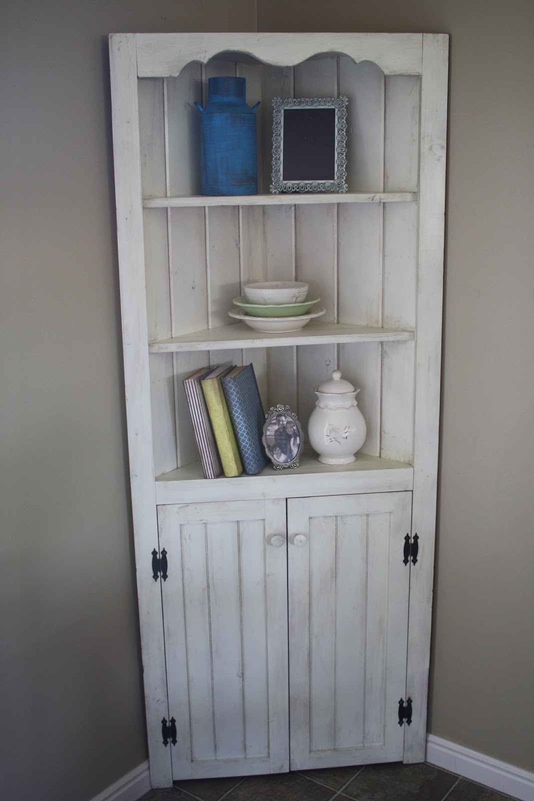 The Painted Parlor Corner Hutch