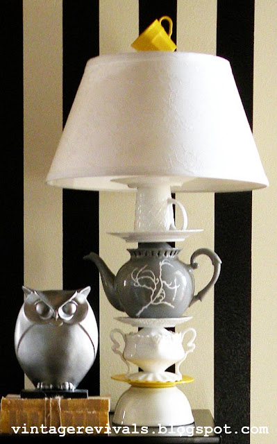 Anthropologie Tea Cup Lamp