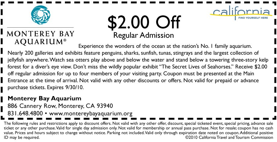 Sf aquarium coupon code