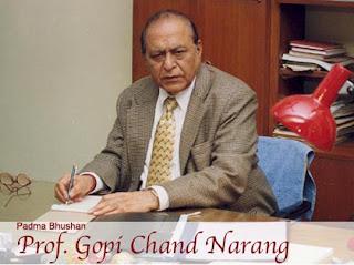 Moortidevi Award 2011 winner Prof. Gopi Chand Narang