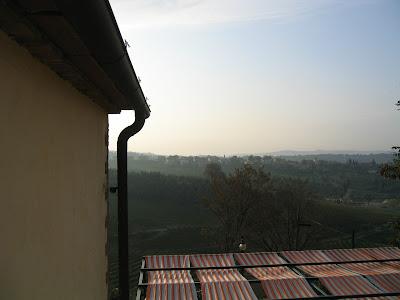 Aamu-usva Toscanassa