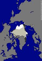 Kartta Arktiksen sulamisesta