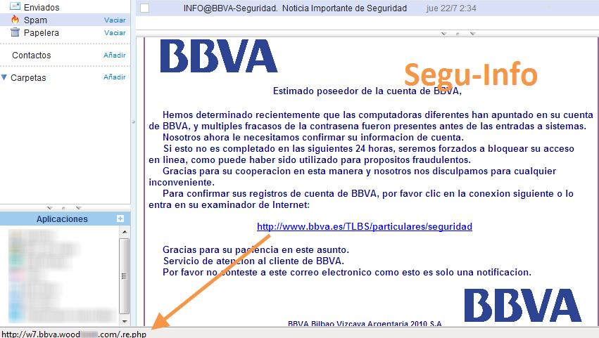 Phishing al banco bbva espa a segu info - Method homes espana ...