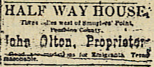 Newspaper ad from August 7, 1879 issue of THE PEMBINA PIONEER