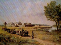 1872 Fort Pembina - Painted by Washington Frank Lynn