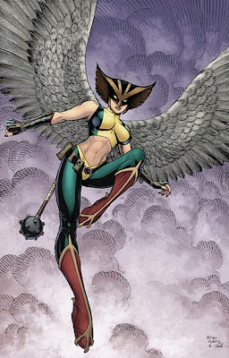Hawkgirl with new and improved (well, bare) midriff!