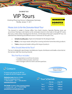 VIP Retail Flooring Tour at DOMOTEX: January 17, 2011