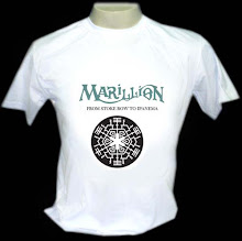"Marillion ""From Stoke Row To Ipanema"" - Camiseta Branca P, M, G - R$ 29,00 + frete"