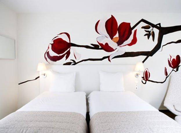 mural de gran elegancia para dormitorio