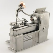 Model of lathe worker
