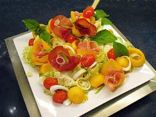 Salade de melon à l'italienne