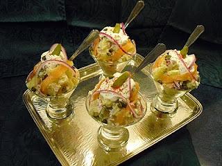 Salade de pommes de terre et saumon fum la recette - Salade pomme de terre saumon fume ...