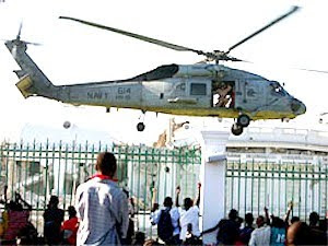 us navy helicopter landing in haiti