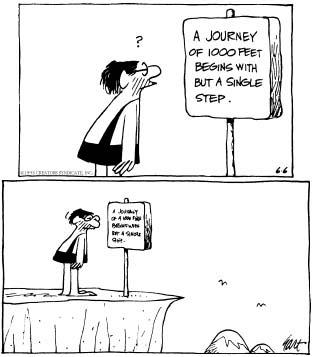 Perjalanan yang Jauh itu tak lain bermula dari langkah yang pertama...