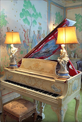 Claggett Wilson Painted This Grand Piano As Well As The Murals At Ten  Chimneys   This Piano Became Known As The Noel Coward Piano