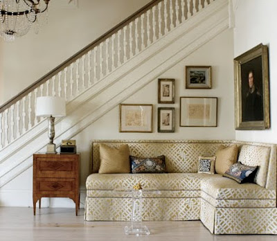v i s u a l * v a m p *: What's Under Your Stairs? Banquette Under Stairs on ideas for space under stairs, toilet under stairs, hidden storage under stairs,