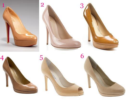 nude platform pumps. Double Platform Pump $775