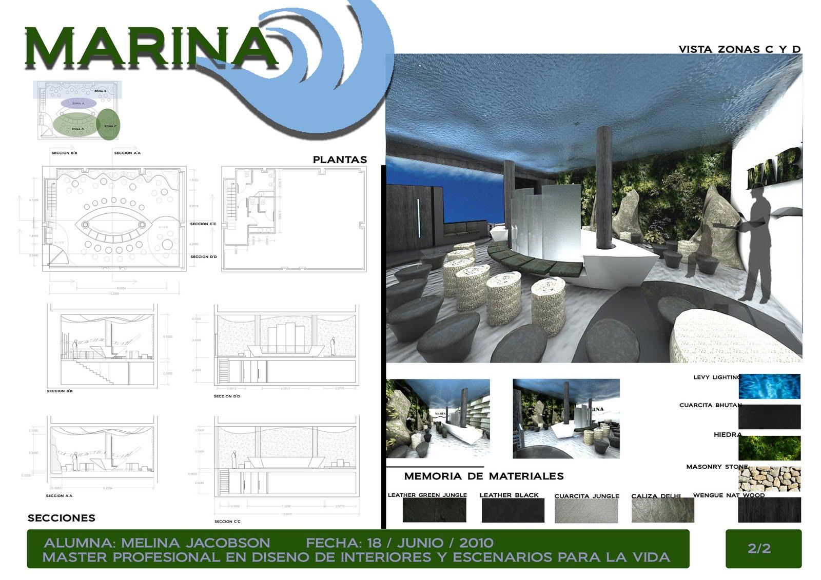 Arq melina jacobson proyecto final dise o de interiores for Master en arquitectura de interiores