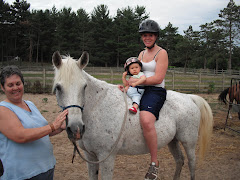 Iris's first time on horseback