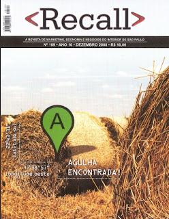 Edição de novembro de 2008 da revista Recall, com Alex Gonçalves