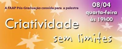Palestra: Criatividade sem limites, em São José dos Campos. Blog Publiloucos.