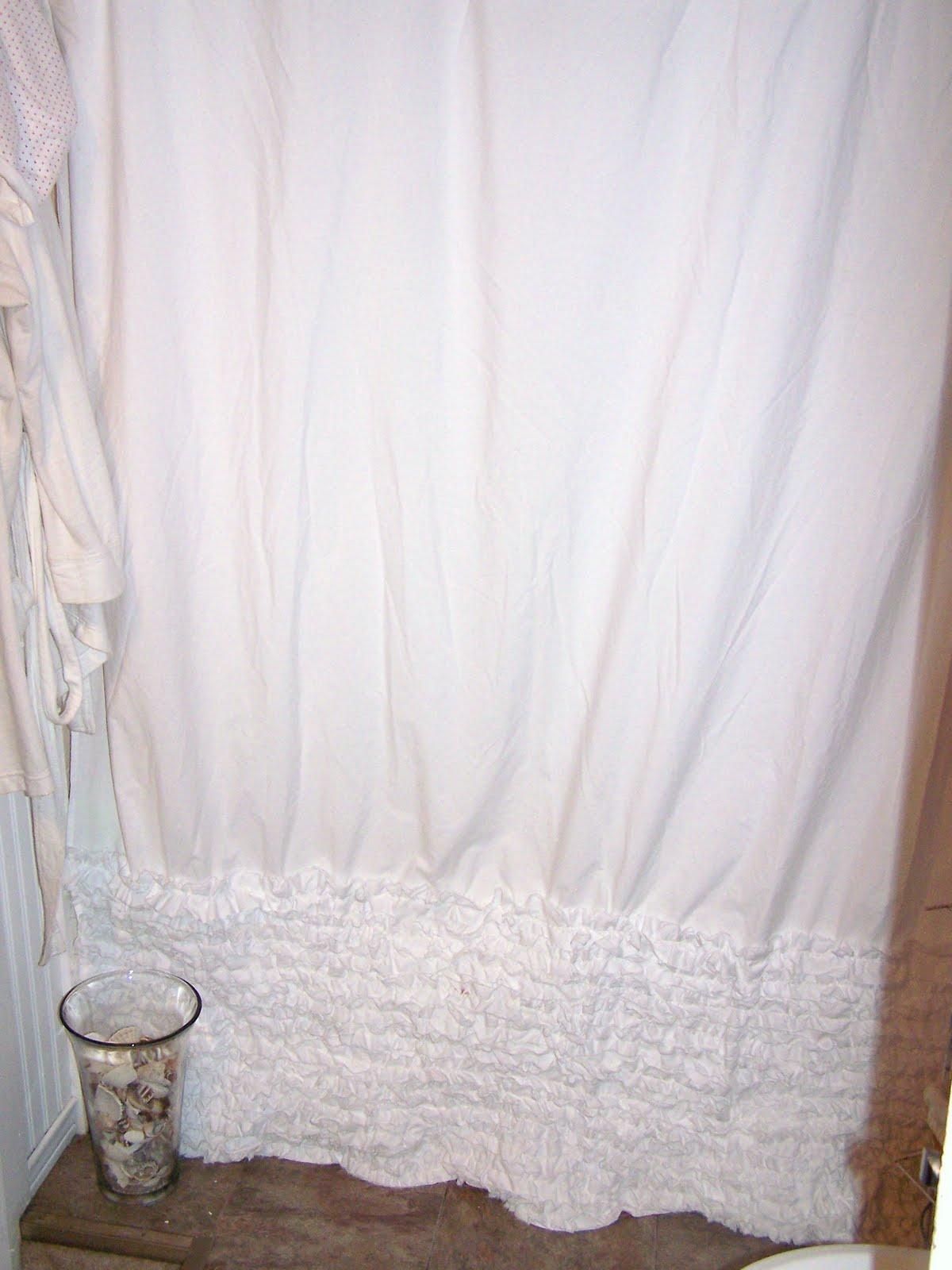 Shabby Remix Anthropologie Inspired Shower Curtain