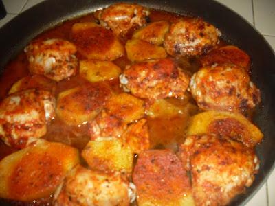 Soslu Patatesli Fırında Tavuk Pirzola