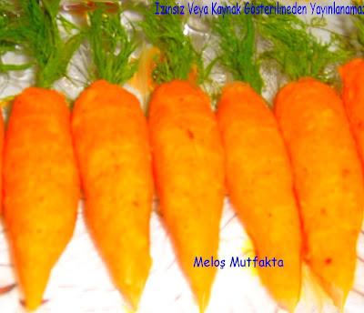 Havuç Görünümlü Patates ve Havuç Sunumu