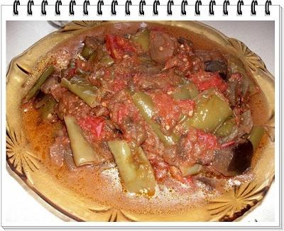 Domates Soslu Patlıcan Ve Biber (Başka Usul)