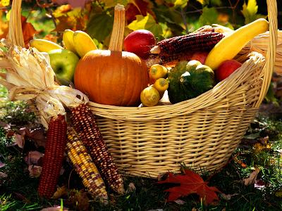 autumn wallpaper. Autumn Harvest Basket