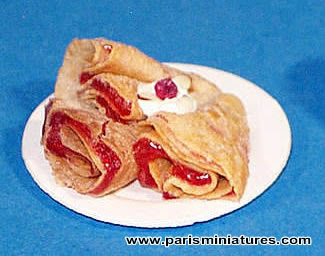 Miniature crepes - Emmaflam and Miniman - Paris Miniatures
