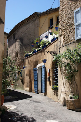 Street view of the French Provençal town of Lourmarin