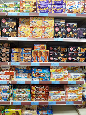 French cookies on a Supermarket shelf