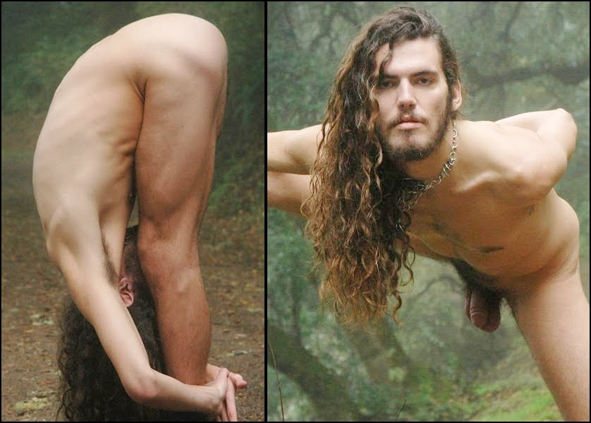 Naked gay men with long hair nude