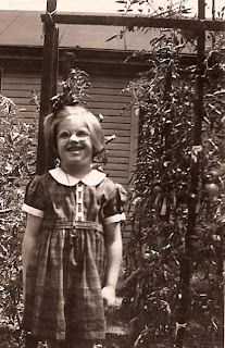 Photograph of Carol Ryan Pringle as a child in Evansville, Indiana 1940s
