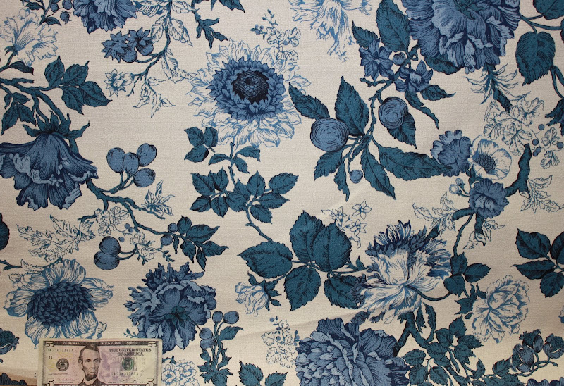 Blue and White Floral Fabric