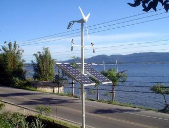 Aerogerador Air breeze e Painel Solar