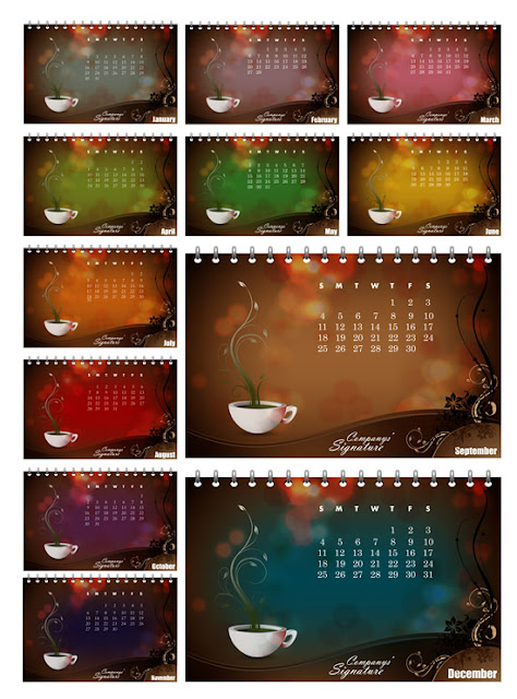 A New Year's 2011 calendar template vector
