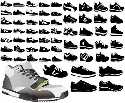 Shoes vector eps format material