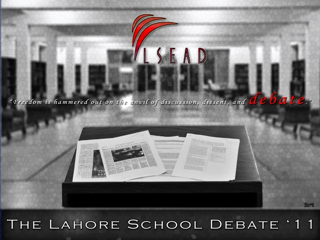 The Lahore School of Economics is hosting its fifth annual debate and