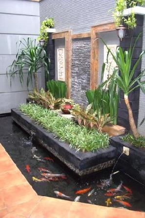 gambar depan rumah on Ahli Pembuat Taman Hias Berpengalaman di Batam: Jasa Design Kolam Ikan ...
