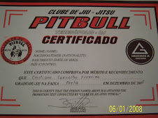 Certificado de Faixa preta