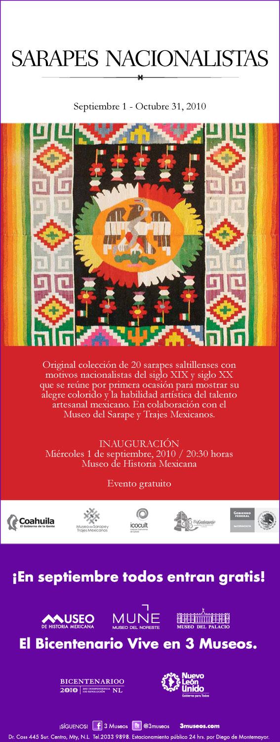 Exposición de Sarapes en Monterrey