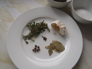 Seasonings for Greens, Eggs, and Ham goose confit