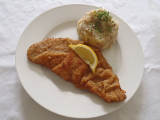 Wiener schnitzel and potato salad