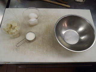 Mise en place for the panada