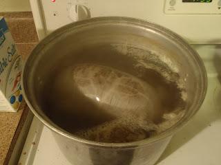 Simmering the haggis